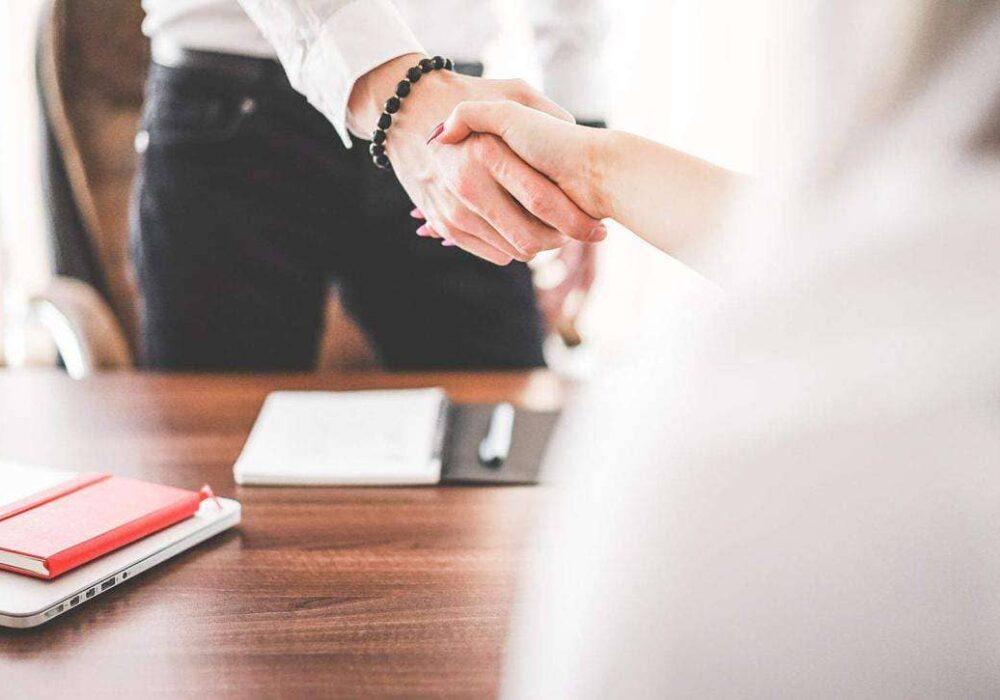 IRIS IT business handshake